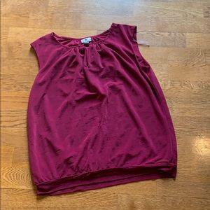 Worthington sleeveless top- magenta/wine color
